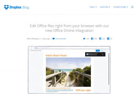 Dropbox にOffice Onlineが組み込まれた。02