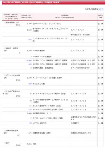 ドコモ バリュー化 Nexus 4 で持込機種変しました。02