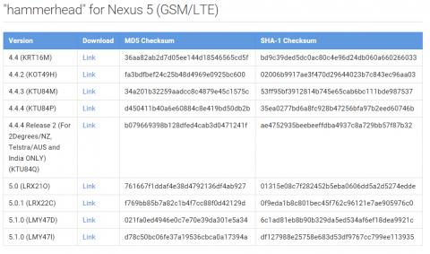 Nexus 5 Android 5.1.0 (LMY47I)配信 ファクリーイメージで手動アップデート。02
