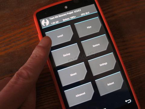 Nexus 5 Androdi 5.1 Xposed Framework をインストールする。04